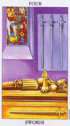 Karta Tarota - Czwórka Mieczy