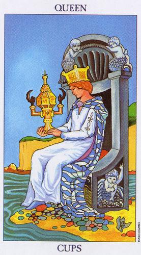 Karta Tarota - Królowa Pucharów
