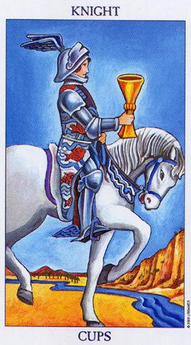 Karta Tarota - Rycerz Pucharów